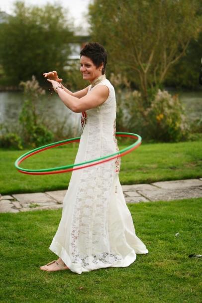 Hoola Hooping Bride